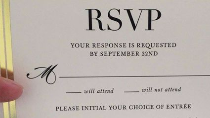 This wedding RSVP card is going viral for the most hilarious reason...