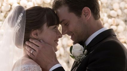 New 'Fifty Shades Freed' teaser gives us our first proper glimpse of Anastasia's wedding dress!