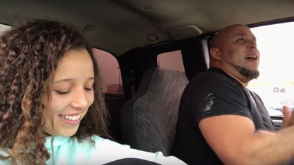 This teen secretly filmed her dad singing in the car and his voice is absolutely jaw-dropping!
