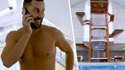 Watch Sam face his biggest fear: Jumping from a diving board 10m up! Will he do it?