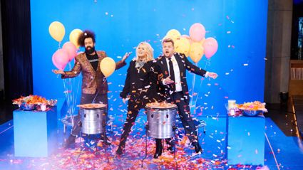 Meghan Trainor and James Corden Speed it up to Slow it down