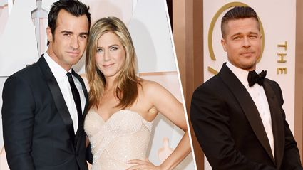 "Apparently Justin Theroux ""blew up"" after finding love notes from Brad Pitt to Jennifer Aniston"
