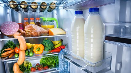 This is why you should never store your milk in the fridge door...