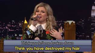 Watch Kelly Clarkson sing the hilarious Google Translated version of her song Stronger