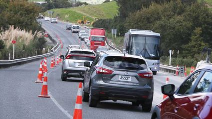 Roadworks south of Whangarei delay motorists for several hours