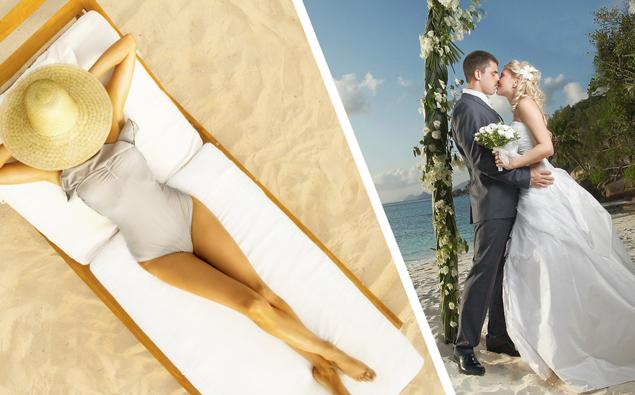 Sunbathing Woman Refuses To Move Despite Beach Wedding