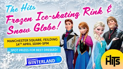 The Hits Frozen Ice Skating Rink & Snow Globe