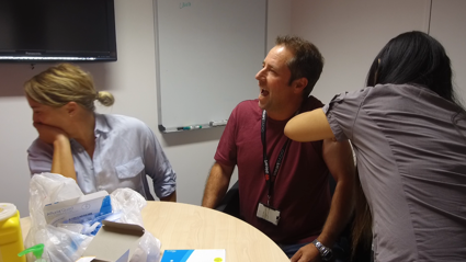 Watch needle-hating Fitzy finally get his flu jab!