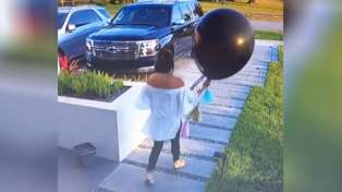 The painful moment boy ruins pregnant mum's baby gender reveal