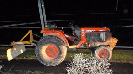 Stolen tractor driver tasered after low-speed police pursuit on SH1