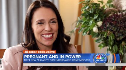 Watch: Prime Minister Jacinda Ardern talks being 'pregnant and in power'