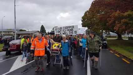 Taupo March For Rescue Chopper