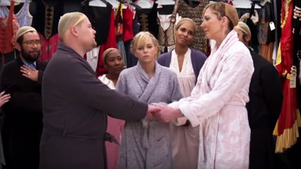 James Corden takes on 'The Sound of Music' with Anna Faris and Allison Janney for the most hilarious 'Crosswalk Musical'