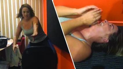 "Watch Brodie's hilarious fail as she shows off her ""stripper"" moves - it's spectacular!"