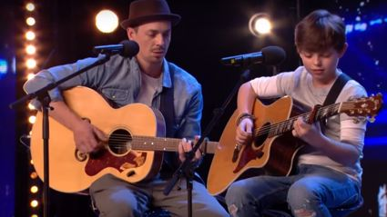 Father and son reduce Britain's Got Talent judges to tears with beautiful tribute song