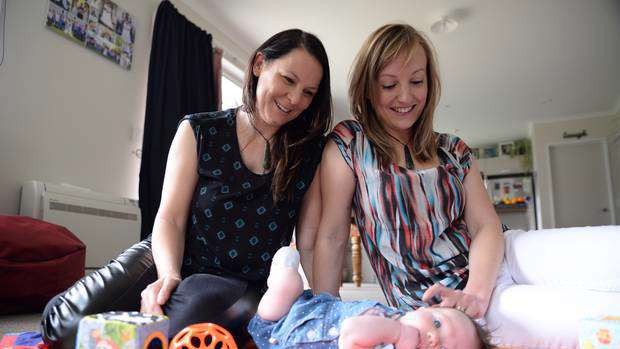 Nelson-Tasman region couple Stacy and Jess conceived Evie using donor sperm and IVF. Photo / Nelson Weekly
