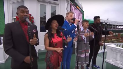 Pentatonix perform the American national anthem - and it sounds INCREDIBLE!