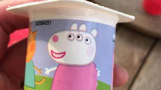 Yoghurt Misprint Adds Something Very Rude To Peppa Pig Character