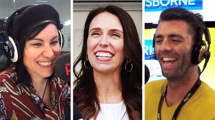 First Baby Day: Stace and Producer MU try to convince Jacinda Ardern that we should have another long weekend