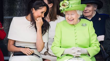 Meghan Markle dishes all the goss on 'married life' during first royal appearance without Prince Harry