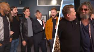 Queer Eye stars give James Corden's guitarist a makeover and the result will blow you away