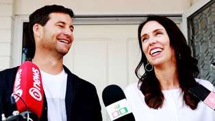 Prime Minister Jacinda Ardern in labour with her first child