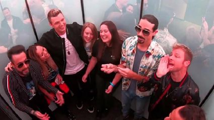 Backstreet Boys prank fans with surprise impromptu elevator singalong - and it is awesome!