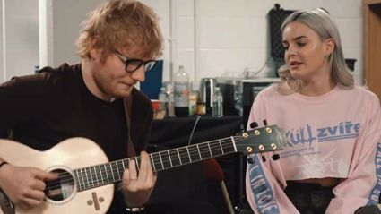 Ed Sheeran singing an acoustic version of '2002' with Anne-Marie is total goals!