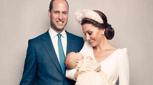 One more official photograph from Prince Louis' christening has been released - and it's our favourite!