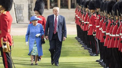 Queen Elizabeth secretly mocked Donald Trump with her fashion choices during his visit