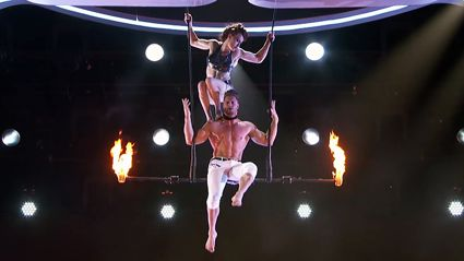 America's Got Talent audience left shocked after trapeze stunt goes horribly wrong