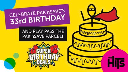 Celebrate Pak'nSave's 33rd Birthday and Play Pass the Parcel with Stace and Flynny!