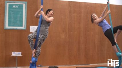 Try it Out Tuesday - Estelle and Celia test their skills at Aerial Circus