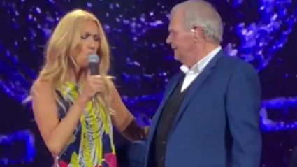 John Farnham joined Celine Dion on stage for surprise duet of 'You're The Voice' - and it is INCREDIBLE!