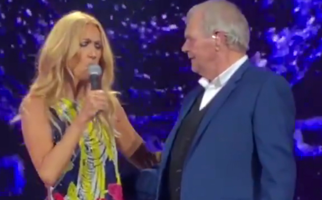 John Farnham joined Celine Dion on stage for surprise duet of 'You