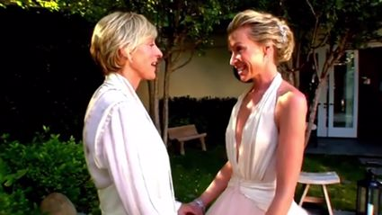 Ellen Degeneres shares intimate wedding video in celebration of their 10th anniversary