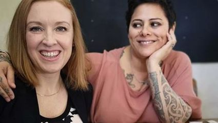 Anika Moa and Natasha Utting reveal they're expecting in the best way ever