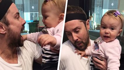 Sam Wallace takes on the Dad Olympics with the help of Laura McGoldrick's adorable baby girl
