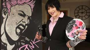 Pink autographs artwork and gets a 'birthday cake' from Northland creator