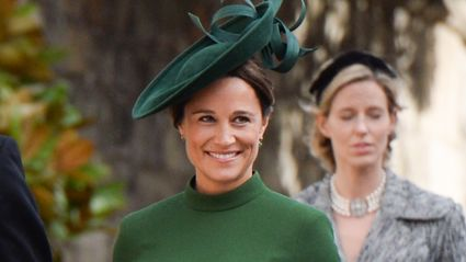 Pippa Middleton shows off nine-month baby bump at royal wedding