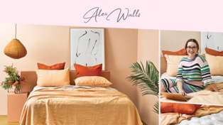 Estelle chats with Alex Walls about her Designer Bedroom for Breast Cancer Foundation NZ