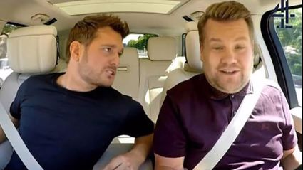 Michael Bublé appears in Carpool Karaoke for a very special reason