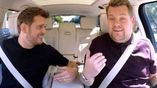 Michael Buble stars in Carpool Karaoke with James Corden