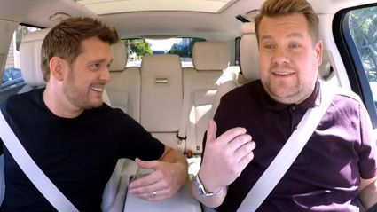 Michael Buble stars in Carpool Karaoke with James Corden