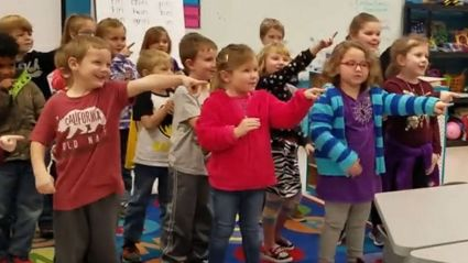 Deaf janitor moved to tears after kindergarten kids sing 'Happy Birthday' to him in sign language