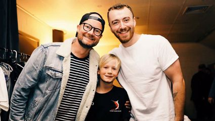 The moment Flynny's son Leo meets Sam Smith will absolutely melt your heart
