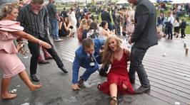 PHOTOS: The drunken aftermath of the Melbourne Cup 2018