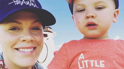 Adorable video of Pink's son shows how he's following in his daddy's footsteps