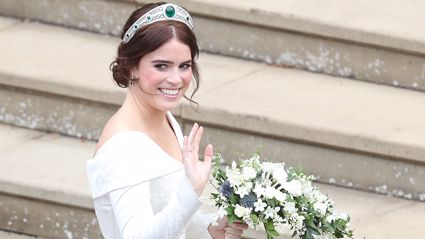 We've just had our first look at Princess Eugenie's reception wedding dress from behind - and it is even more beautiful!