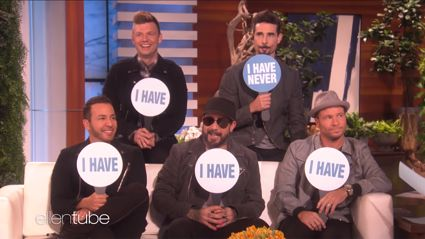 Backstreet Boys reveal raunchy secrets during Never Have I Ever with Ellen DeGeneres